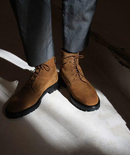 ACT SERIES Astrup Suede Boots - Cognac