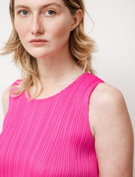 Pleats Please by Issey Miyake New Colorful Basics Tank - Pink