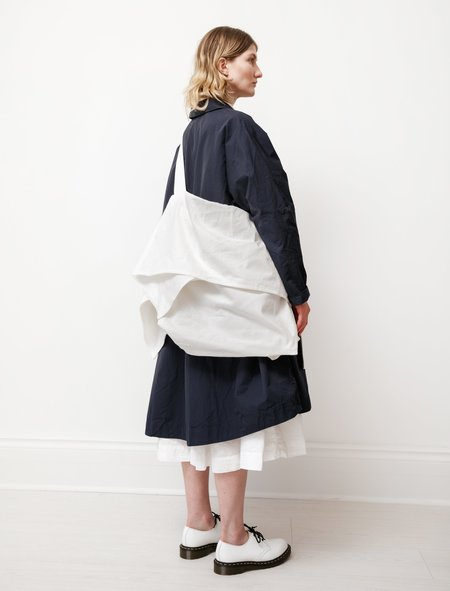 Y's by Yohji Yamamoto Shirred Flutter Crossbody Bag - White