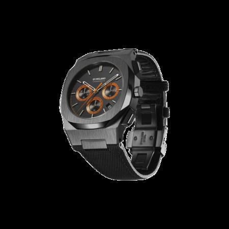 D1 Milano Chronograph Nylon 41.5 mm Watch - Gear Black