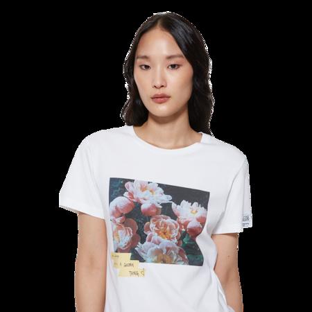 Golden Goose Ania Regular Flowers Postcard T-Shirt - White