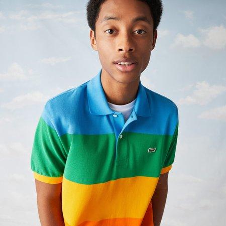 LACOSTE x Polaroid Colour Striped Classic Fit Polo Shirt