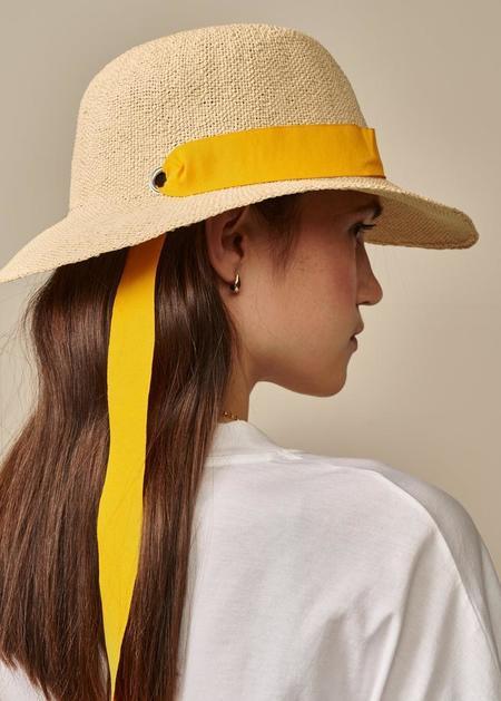 Bellerose Parlo Straw Hat - Natural/Yellow