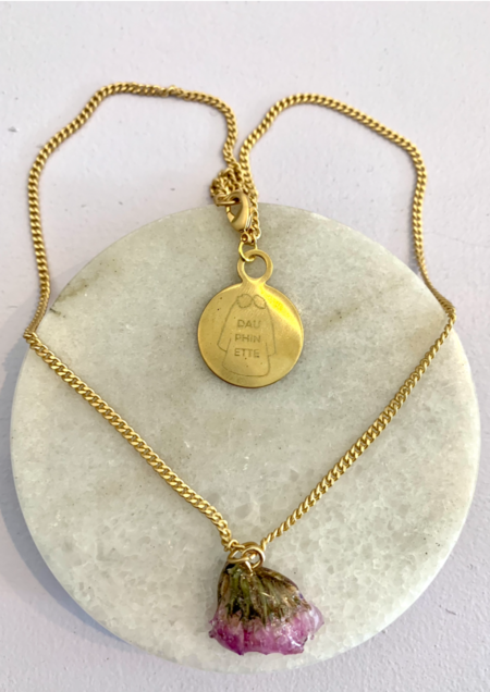 Dauphinette Sea Lavender Necklace - 14k plated
