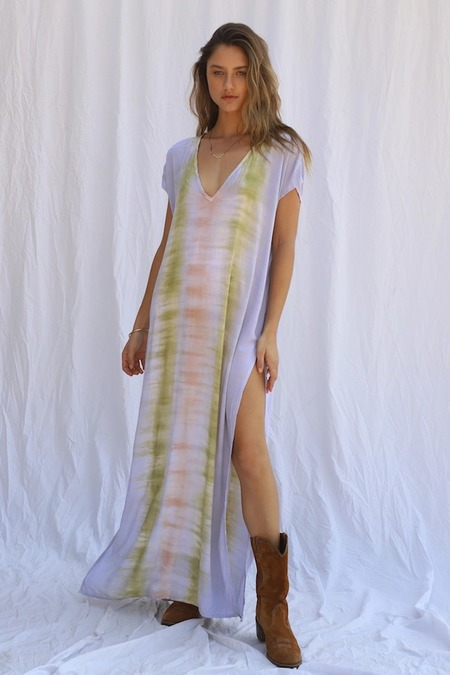 Jen's Pirate Booty Rio Saba Kaftan - Desert Sun Astral Tie Dye