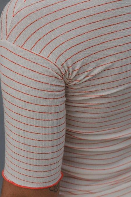 Baserange Pama Cotton Tee - Red/White Stripe