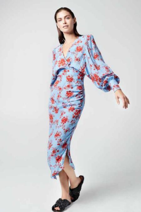 Smythe Asymmetrical Dress - blue