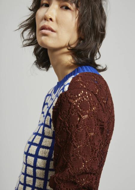 Rachel Comey Lando Sweater Top - Grid Boucle