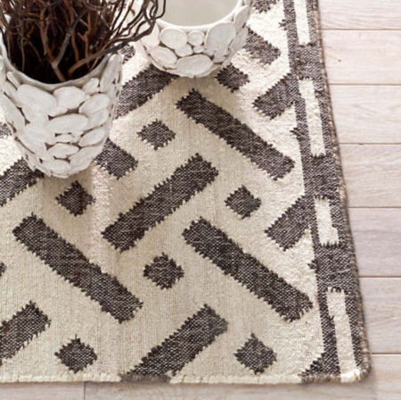 Dash and Albert Maiko Woven Jute Rug - ivory/black