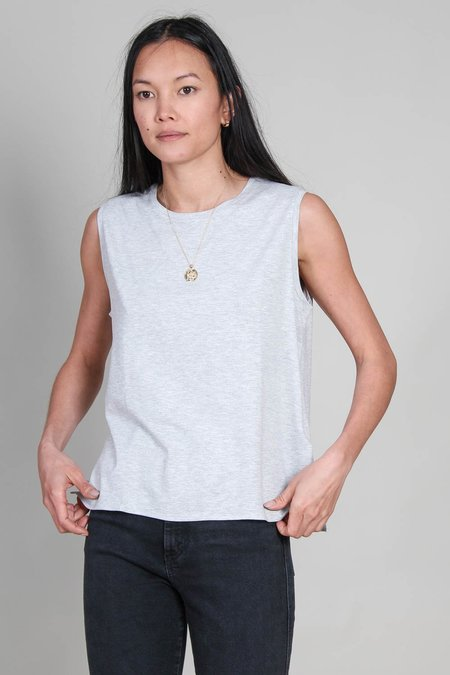 Majestic Soft Touch Crew Neck Tank - Gris Chine Clair