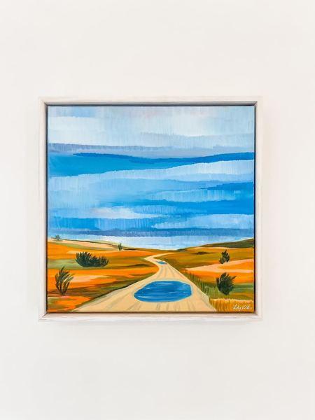 Lily Keller Norton Point Kiddie Pools Oil Painting