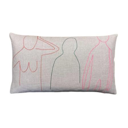 k studio Lumbar Pillow - Flax
