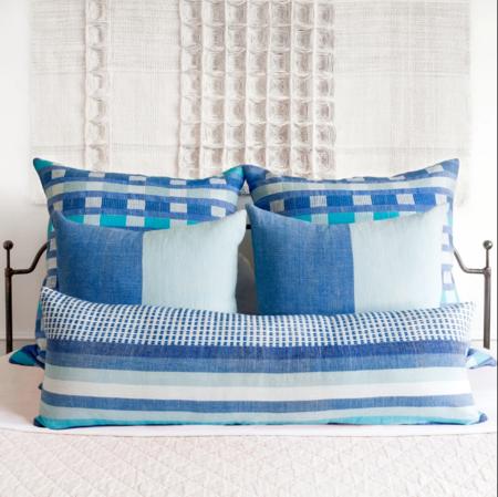 Bole Road Textiles Suri Lumbar Pillow - Azure