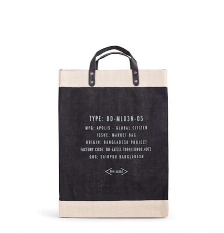 Apolis Vote Market Bag - black