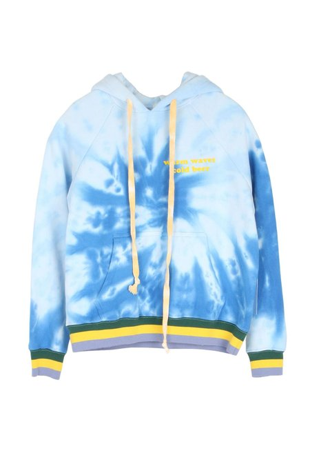 Warm Waves Classic Hoodie - Blue Spiral Tie-Dye