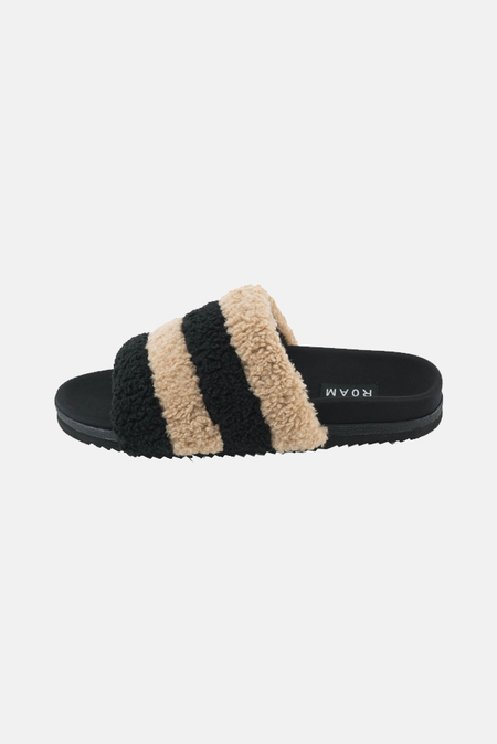 ROAM Prism Slippers Shoes - Beige/Black
