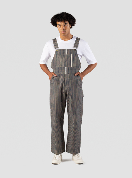 I AND ME Organic Plant Dyed Stripe Selvedge Dungaree