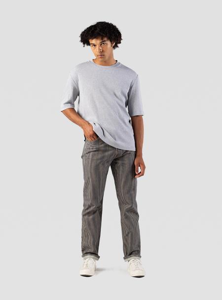 I AND ME Organic Plant Dyed Stripe Selvedge Slim Leg Jeans