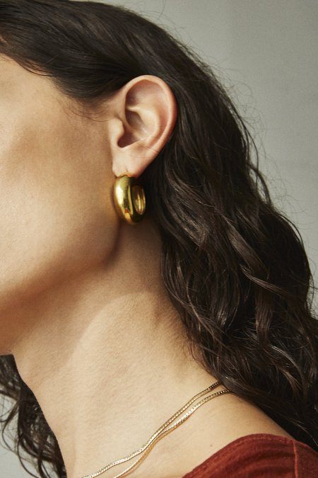 Laura Lombardi cusp hoop - 14kt gold fill
