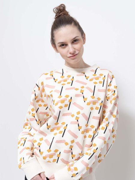 Wemoto canvas crew sweater - birch