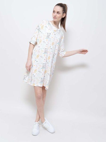Wemoto montie printed t-shirt dress - off white