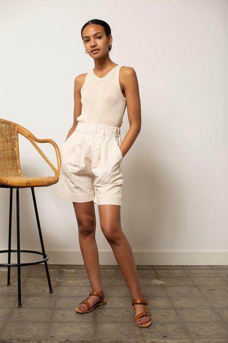 Micaela Greg Utility Shorts - Cream