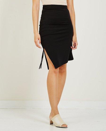 AR321 Ruched Skirt - Black