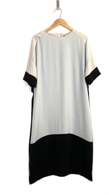 Valérie Dumaine Phoenix Dress - Black/Mint/Taupe