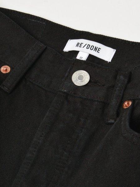 RE/DONE 70S STOVE PIPE denim - BLACK