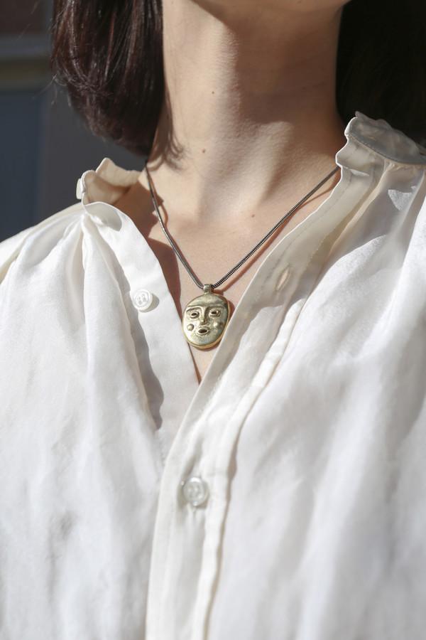 MONDO MONDO Ooga Booga Necklace in Brass