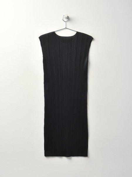 Pleats Please by Issey Miyake Basic Dress - Black
