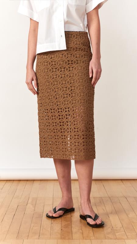 Dorothee Schumacher Bold Statement Skirt - Milky chocolate