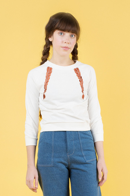 Samantha Pleet Braid Shirt - White