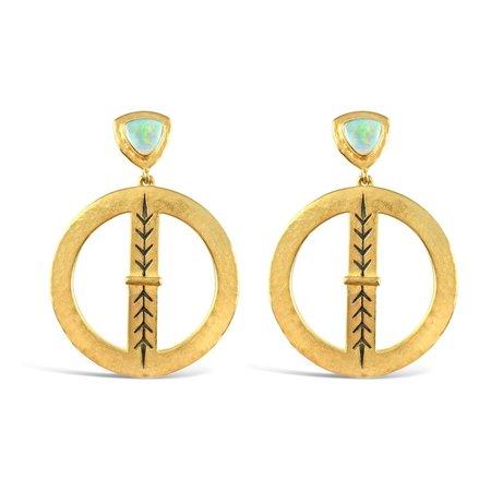 Sierra Winter Jewelry Bluestem Earrings - Gold Vermeil/Ethiopian Opal