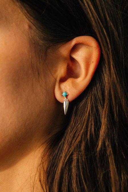 Sierra Winter Jewelry Desperado Earrings - Sterling Silver/Turquoise