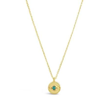 Sierra Winter Jewelry Evil Eye Necklace - Gold Vermeil/Turquoise