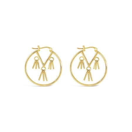 Sierra Winter Jewelry Honky Tonk Hoop Earrings - Gold Vermeil