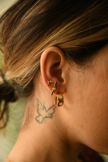Sierra Winter Jewelry Horizon Earrings - Gold Vermeil/Opal