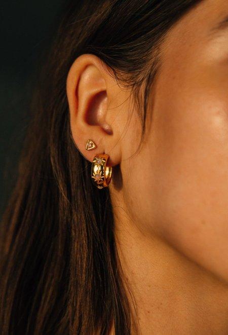 Sierra Winter Jewelry Eve Hoop Earrings - Gold Vermeil/Ethiopian Opal