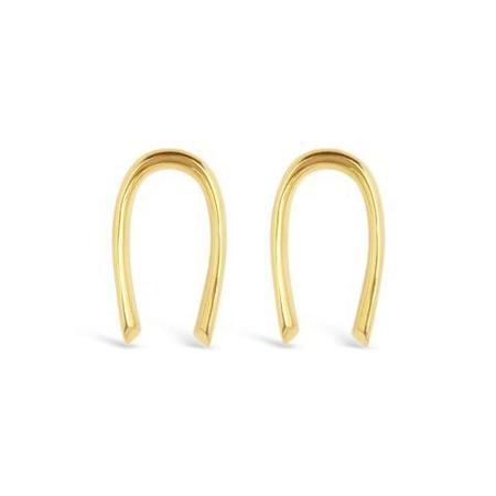 Sierra Winter Jewelry Sun Child Earrings - Gold Vermeil