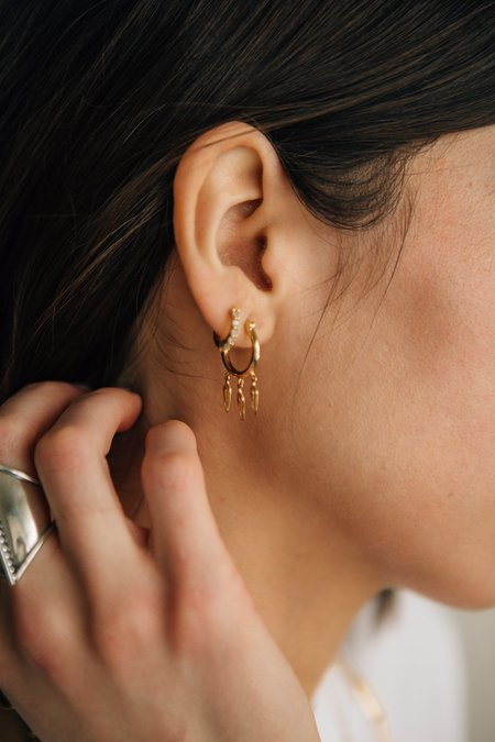 Sierra Winter Jewelry Wildfire Hoop Earrings - Gold Vermeil
