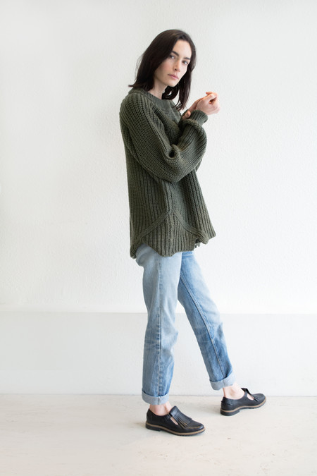 Micaela Greg Olive Arch Sweater