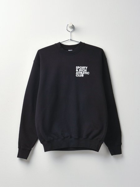 Sporty & Rich Exercise Often Crewneck sweater - Black/White