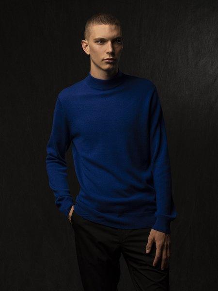 PURECASHMERE NYC Men Mockneck Sweater - Royal Blue