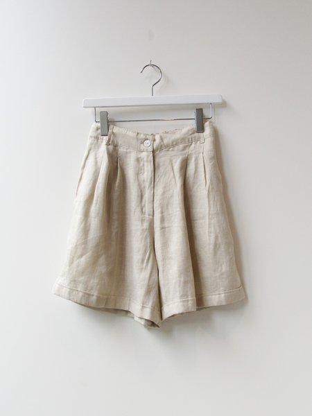at Dawn. Linen Shorts