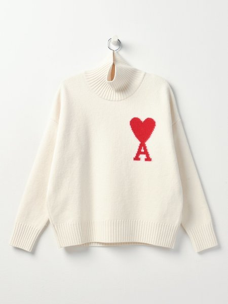 AMI PULL AMI COEUR sweater - OFF-WHITE/150