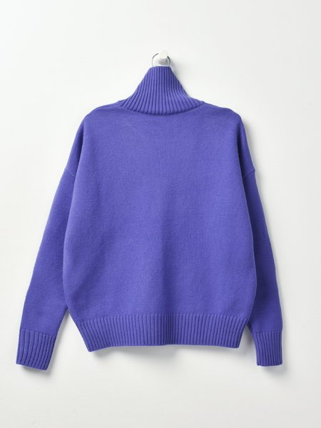 AMI PULL AMI COEUR SWEATER - VIOLET/500