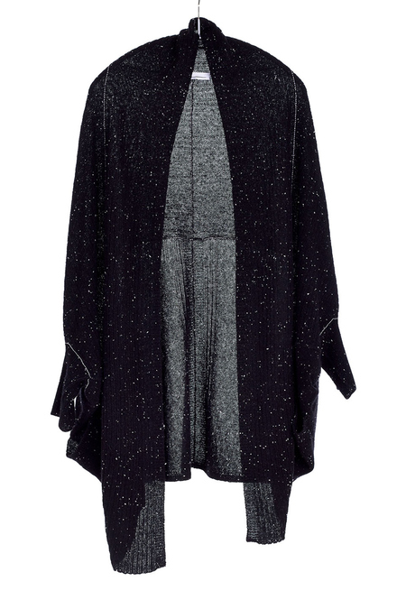 Paychi Guh Cashmere Cocoon Cardigan Black/Speckle
