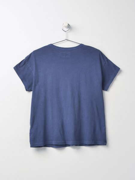 The Great. THE BOXY CREW top - LAKE BLUE