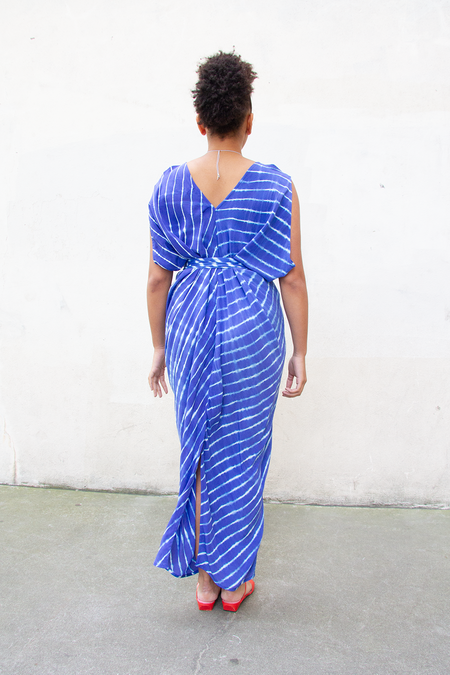 Bhoomki Athena Dress - Blue Leheriya